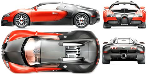 Bugatti Veyron Blueprint by Bugatti Veyron Blueprint Free Blueprint For 3d