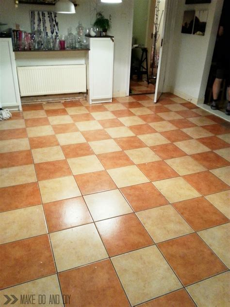 Painted Tile Floorno Really!  Make Do And Diy