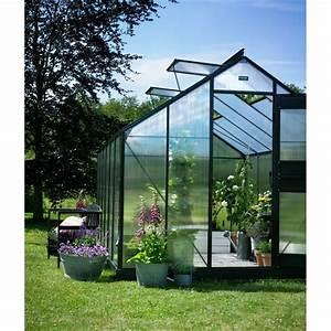 Serre De Jardin Polycarbonate : serre de jardin 12 1m anthracite polycarb 6mm junior ~ Dailycaller-alerts.com Idées de Décoration