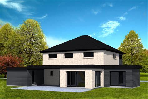 maison cubique avec toit 4 pans yohann baheux ma 238 tre d oeuvre permis de construire 59 62