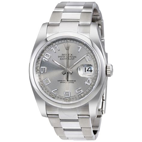 Rolex Datejust 36 Silver Concentric Dial Stainless Steel ...