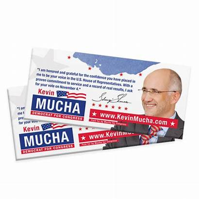 Political Campaign Cards Palm Posters Card Push