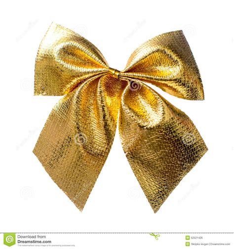 gold christmas bow stock photo image 52521426