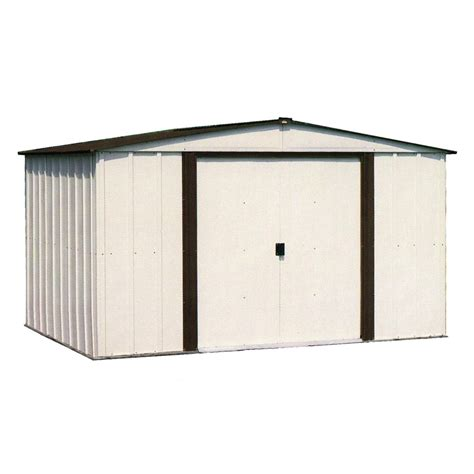 Arrow Metal Shed 10x12 by Shop Arrow Galvanized Steel Storage Shed Common 10 Ft X