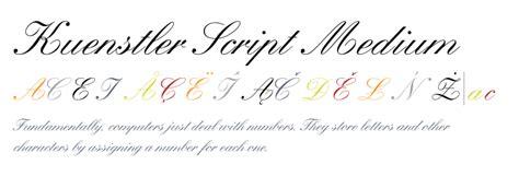 kuenstler script medium fontscom