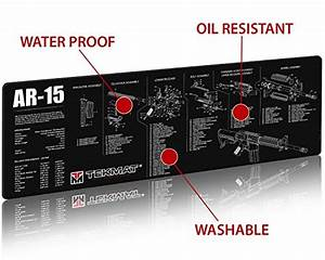 Tekmat Ar-15 Cleaning Mat    12 X 36 Thick  Durable  Waterproof