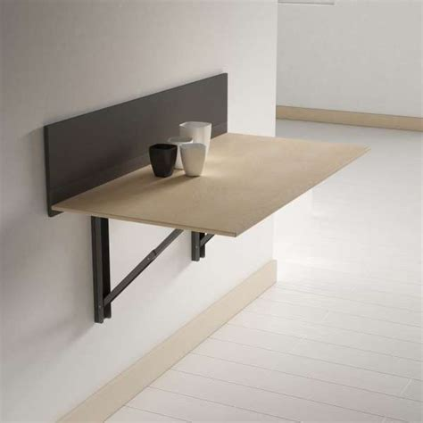 table de cuisine rabattable murale table pliante murale contemporaine click 4 pieds