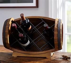 Barrel Tabletop Wine Rack Pottery Barn