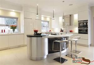 Modern Contemporary Kitchen 1 Curves Bevels Designer