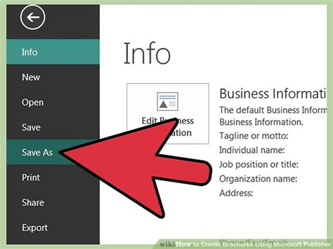 Publisher 2003 In Pictures Create A Brochure From A Template How To Create Brochures Using Microsoft Publisher 11 Steps
