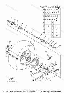 Yamaha Atv 2014 Oem Parts Diagram For Rear Wheel 2