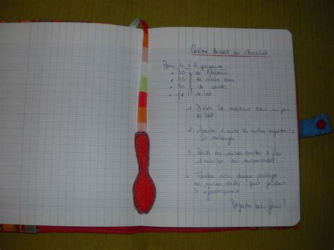 cahier de recette de cuisine cahier de cuisine