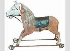 Consigned Antique French Children's Toy Horse Victorian