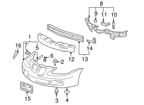 Bumper Components Front For Pontiac Grand Prix