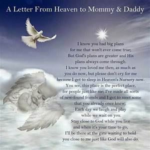a letter from heaven to mommy daddy memorial quote With letters to baby from mommy