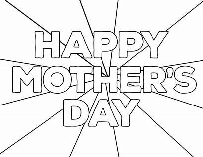 Coloring Mother Pages Happy Mothers Printable Paper