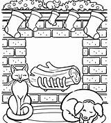 Coloring Pages Holiday Printable Fireplace Christmas Scene Parents Around Printables Chimney Sheets Winter Drawing Grade Adult Stockings Cozy sketch template