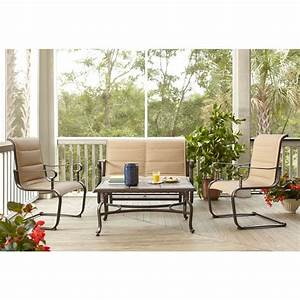 Hampton Bay Belleville Padded Sling 4-Piece Patio Seating