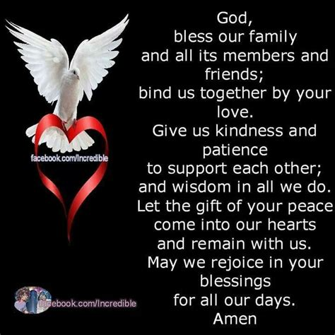 God Bless My Family And Friends Quotes