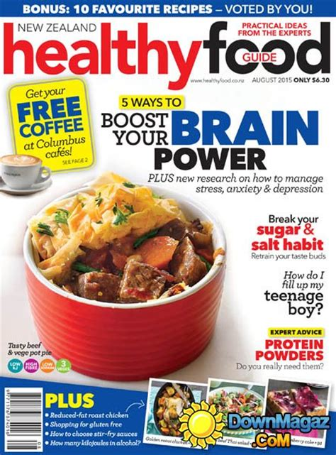 guide cuisine magazine healthy food guide nz august 2015 pdf magazines magazines commumity