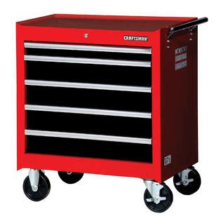 craftsman 5 drawer rolling tool box craftsman 27 quot 5 drawer std duty bearing slides roller