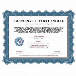 emotional support dog certificate dog puppy With emotional support dog certification letter