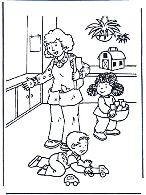 play  toys children coloring page
