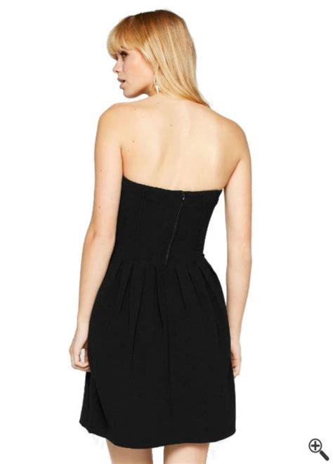 festliche kleider   linien form ruecken knielang schwarz