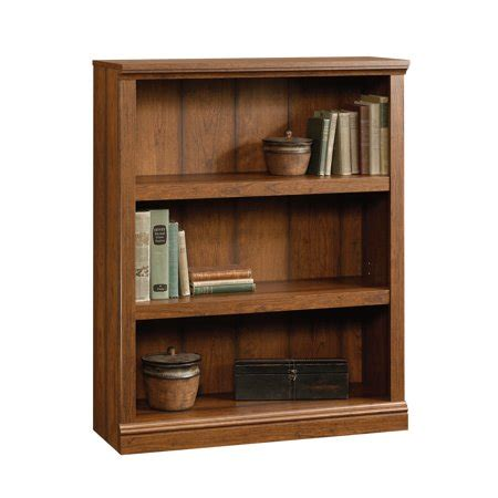 Sauder Bookcase Cherry by Sauder Select 3 Shelf Bookcase Washington Cherry Finish