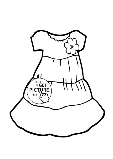 Dress Coloring Pages Wwwpixsharkcom Images Galleries