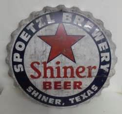 NEW AUGUST LIST Shiner Distressed Cap Beer Bar Tin