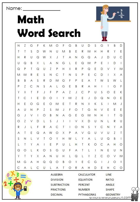 math word search word search