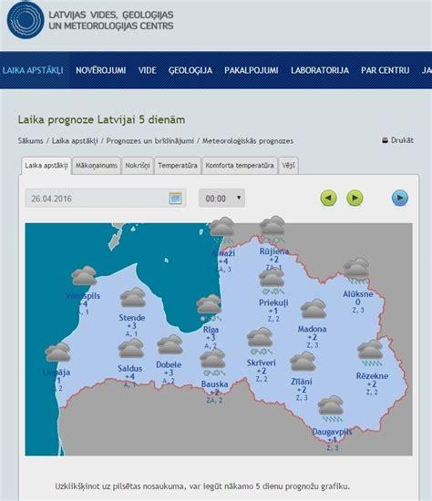 LVĢMC   Laika prognoze Latvijai 5 dienām   Laika apstākļi ...