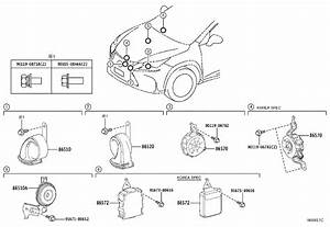 Lexus Nx 200t Horn Assembly  Security  Electrical