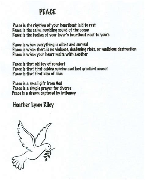 poems for peace quotes and poems quotesgram