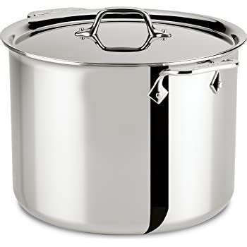 amazoncom prima matera  copper stainless steel stockpot    lid kitchen dining