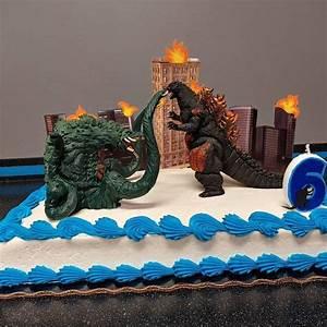 Godzilla, Centerpiece, Picks, Godzilla, Cake, Topper