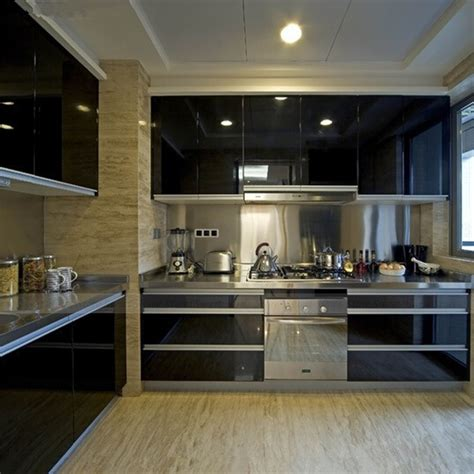 Black Kitchen Cabinet Refacing Film High Gloss Vinyl Self