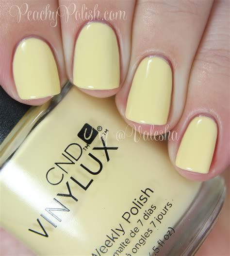 sun bleached cnd vinylux spring 2014 open road collection swatches review peachy polish