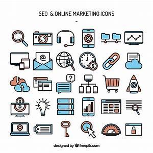 Iconos de marketing de seo y online Descargar Vectores gratis