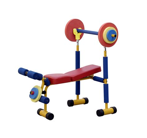 bench with weights exercise fitness weight bench