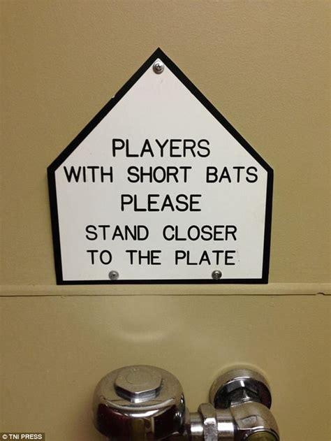 funny  bizarre bathroom signs    world