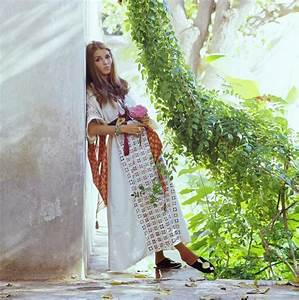 Talitha Getty By Her House In Morocco by Patrick Lichfield