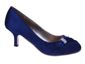 navy wedding shoes womens navy blue satin wedding bridal evening court shoes