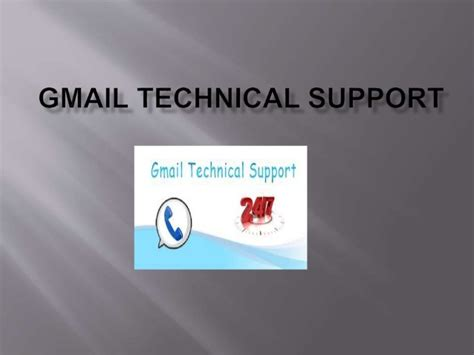 gmail technical support help desk number