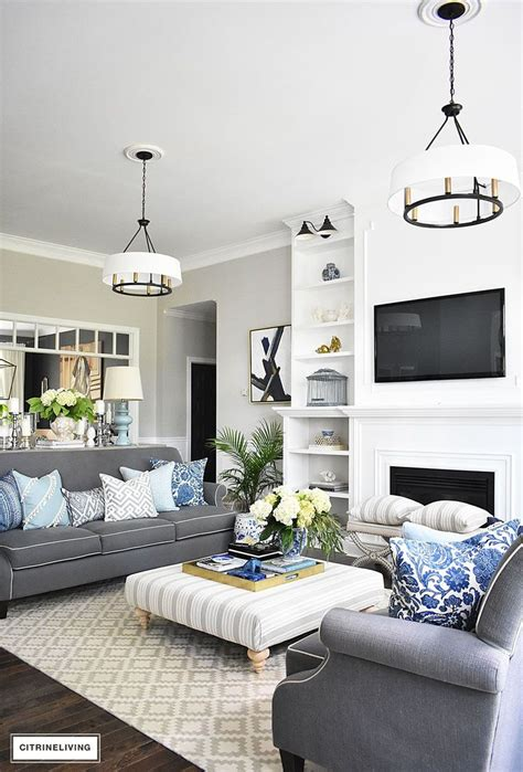Decorating Ideas Grey by 32 Blue White And Grey Living Room 17 Best Ideas About