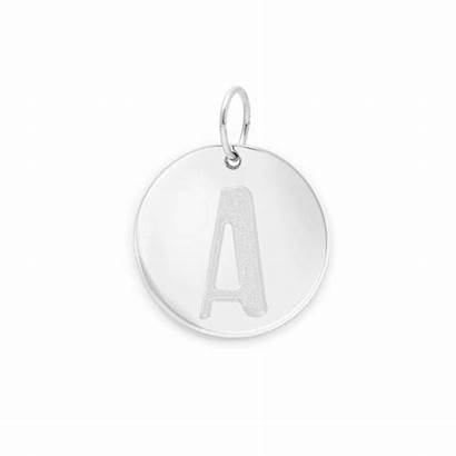 Letter Necklace Silver Gold Solid