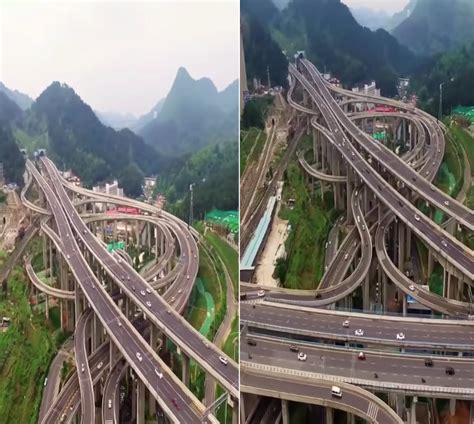 Qianchun Interchange by That Looks This Highway Interchange In China
