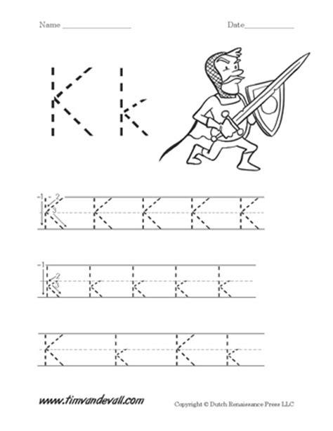 letter k worksheets tim de vall comics printables for 9509