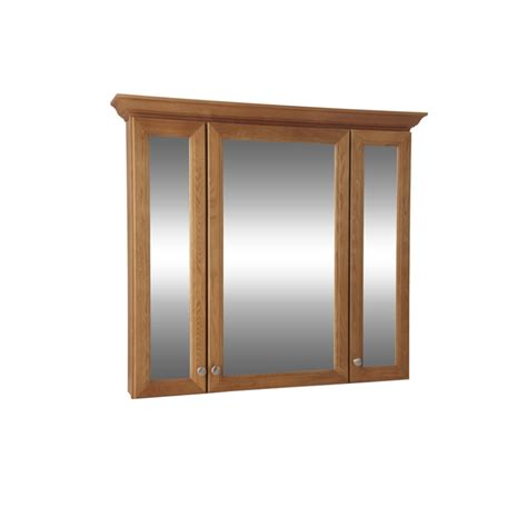 surface mount medicine cabinet lowes shop allen roth northrup 42 in x 37 in honey surface